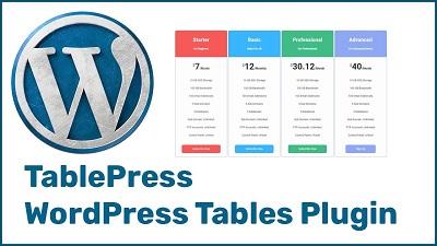 plugin para wordpress table press