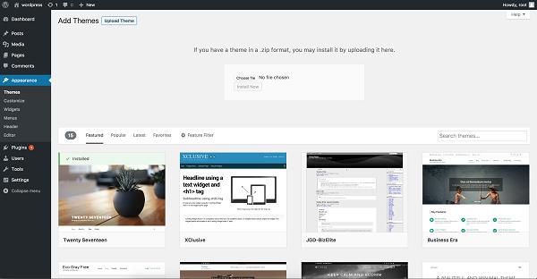 descargar theme en nuestro wordpress